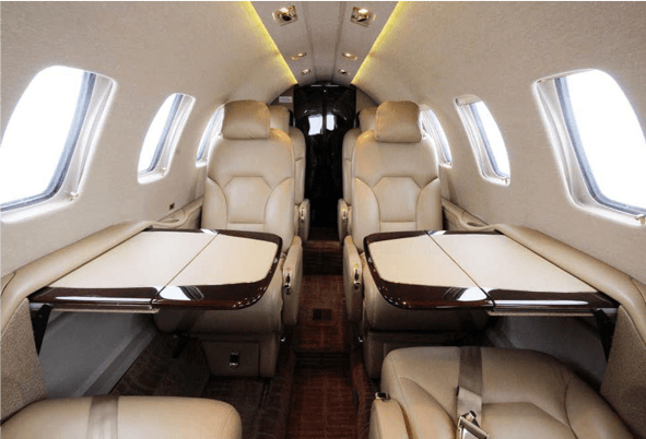 Citation Bravo N550BJ Aircraft Interior Citation - Seattle Private Jet Charter